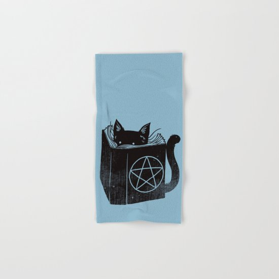 WITCHCRAFT CAT (Blue) Hand & Bath Towel