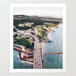 "Golden Gate Bridge San Francisco: ""I rise above"" Art Print"