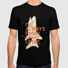 I'LL ALWAYS FINISH WHAT I STAR... MEDIUM Black Mens Fitted Tee