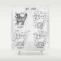 doge Shower Curtains featuring doge by gasponce