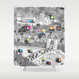 Locals Only - Heidelberg, Germany Shower Curtain