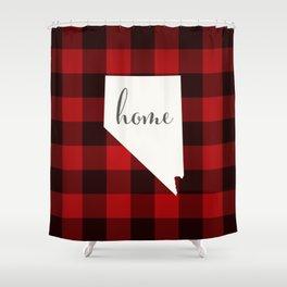 Nevada is Home - Buffalo Check Plaid Shower Curtain