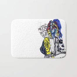 clusters and pretty girls Bath Mat