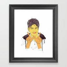 W is for Winning Framed Art Print