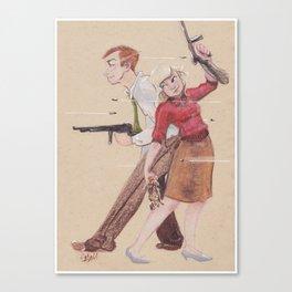 Bonnie & Clyde Canvas Print