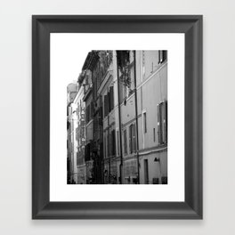 Rome Streets in Grey Framed Art Print