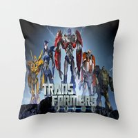 transformers Throw Pillows featuring Transformers Prime by giftstore2u