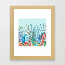 Sea bottom nature Framed Art Print