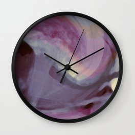 """""""Spring abstract in pink and purple"""" Wall Clock"""