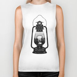 THE PATH MAY BE DARK BUT THE SUN WILL ALWAYS RISE Biker Tank