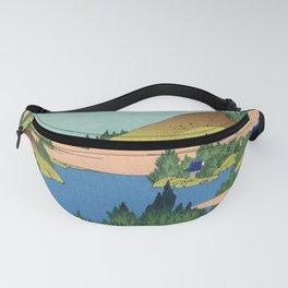 Katsushika Hokusai - 36 Views of Mount Fuji (1832) - 24: The lake of Hakone in Sagami Province Fanny Pack