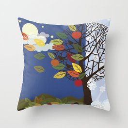 """Seasons"" Summer-Autumn Throw Pillow"
