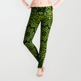 Green kaleidoscope Leggings