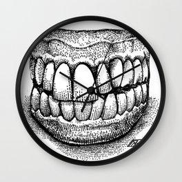 Grandpa's Dentures Wall Clock