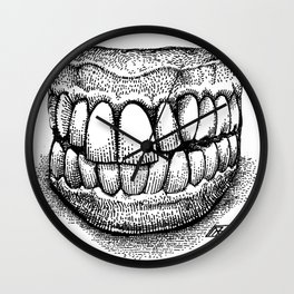 Grandpa's Dentures Wall Clock
