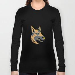 German Shepherd Dog Mascot Long Sleeve T-shirt
