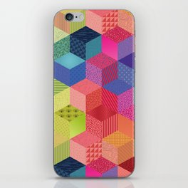 RAINBOW GEO PATTERN iPhone Skin