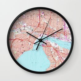 Vintage Map of Jacksonville Florida (1964) Wall Clock