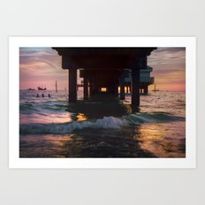 A 35mm Sunset Art Print