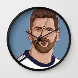 Messi Portrait Cartoon Wall Clock