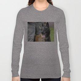 Smiling Belgian Malinois Dog Long Sleeve T-shirt