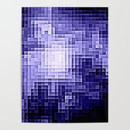 Nebula Pixels Periwinkle Lavender Poster