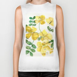 Butterflies and Blooms Biker Tank