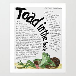 Toad In The Hole Art Print
