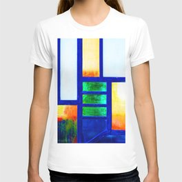 Art Deco Colorful Stained Glass T-shirt
