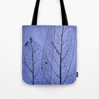 leaf Tote Bags featuring leaf by Bunny Noir