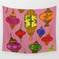 istanbul Wall Tapestries featuring Istanbul lamps by andy_panda_