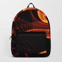 Fractal Art - Fire Snail Backpack
