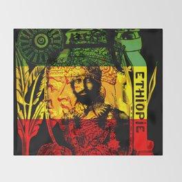 Haile Selassie Lion of Judah Throw Blanket