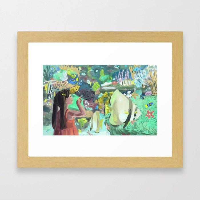 Wonders of the Aquarium Framed Art Print