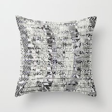 The Eternal Return Of The Unique Event (P/D3 Glitch Collage Studies) Throw Pillow