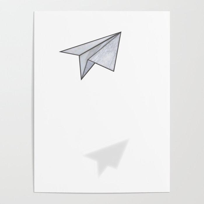 Marbelous plane Poster