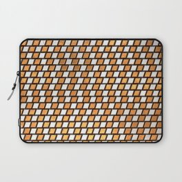 Irregular Chequers - Steel and Copper - Industrial Chess Board Pattern Laptop Sleeve