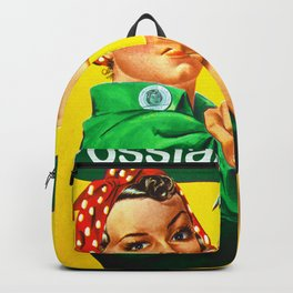 Italian Rosie The Riveter Woman Women Empowerment Women's Rights Italian American Backpack