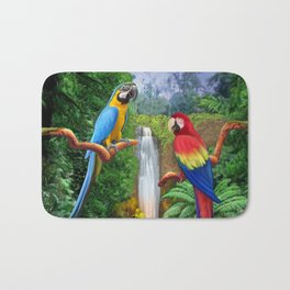 Macaw Tropical Parrots Bath Mat