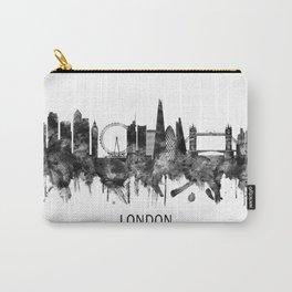 London England Skyline BW Carry-All Pouch