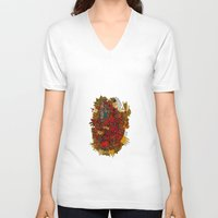 apollo V-neck T-shirts featuring - apollo - by Magdalla Del Fresto