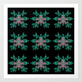Christmas Magic Fractal Art Print