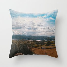 Hills of Windermere, England Throw Pillow