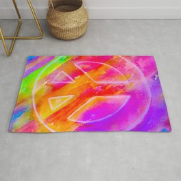 WrighteousArt Peace Sign Rug