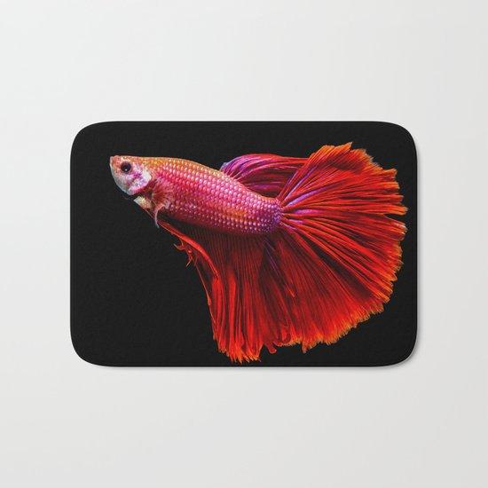 Siamese fighting fish Bath Mat
