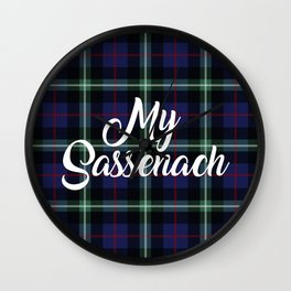 My Sassenach - Blue & Green Wall Clock