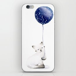 Cat With Balloon iPhone Skin