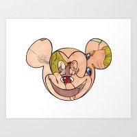mickey Art Prints featuring Mickey by Joanna Zamora