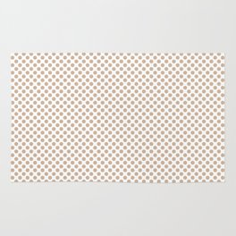 Toasted Almond Polka Dots Rug