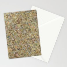 Brown Triangles Stationery Cards